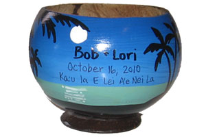 unique anniversary present coconut cup