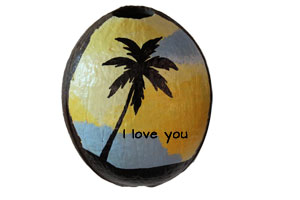 Say I love you with a painted coconut!