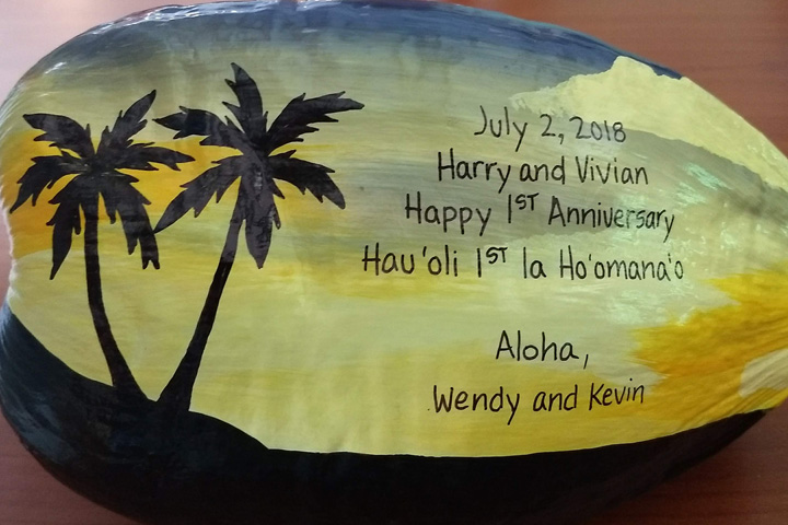 Hawaiian Wedding Gift Ideas: Buy Painted Coconuts For A Unique Anniversary Gift