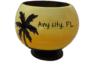 Coconut Cups personalized with your location or message