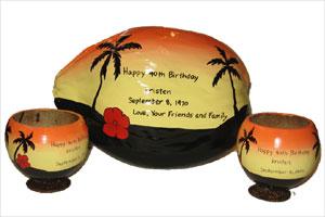 unique 40th Birthday Gift Coconut gift set