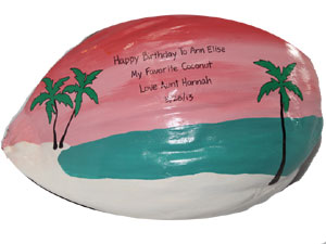 personalized Parrothead birthday gift