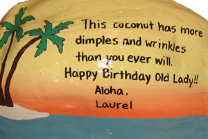 tropical theme personalized birthday gifts
