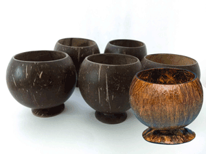 coconut shell cup for kava drinking