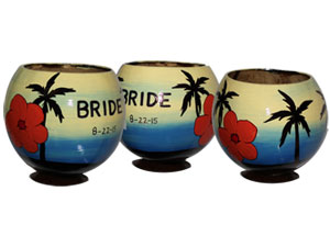 Personalized painted coconut cups for any occasion