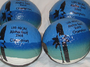 USA made hand painted corporate golf outing trophy