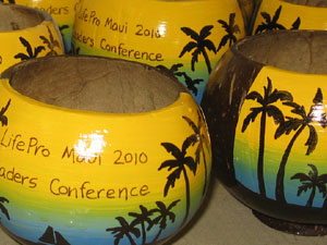 corporate incentive teaser coconut cups and ad specialties.