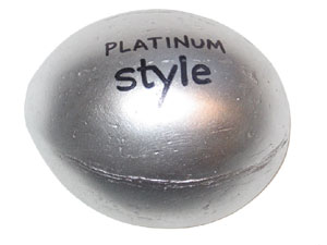 Platinum coconuts made for promotional marketing paperweight items.