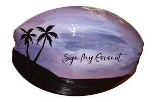 Painted Coconut Guestbook for wedding or party