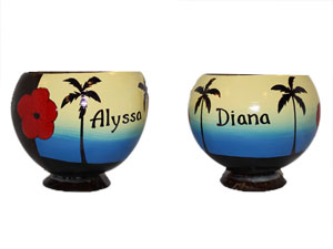 Personalized Genuine coconut cups