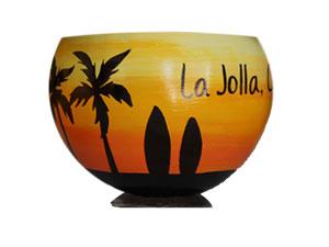 Souvenir coconut cup