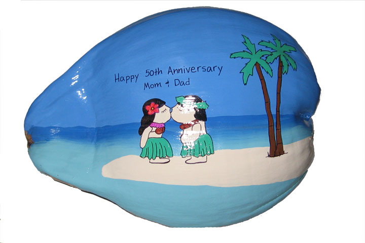 cool anniversary gift  sc 1 st  Coconut Greetings & Buy painted coconuts for a unique anniversary gift.