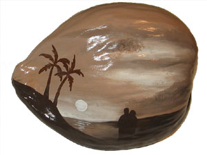 Fine Art painted on coconuts