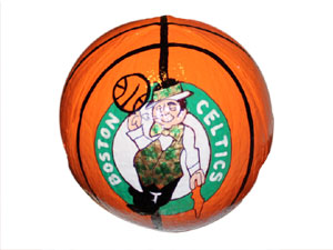 Hand Painted Boston Celtics logo Gift Coconut