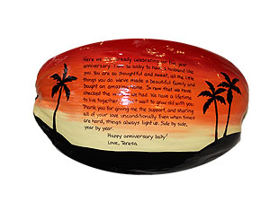 painted coconut postcard