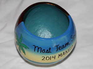 unique coconut trophy