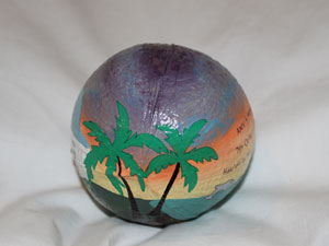 Customized Hand Painted Coconut