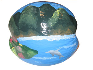 painted coconut