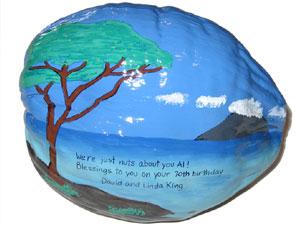 Hand Painted Birthday Coconut