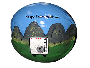 Hand Painted Retirement Coconut