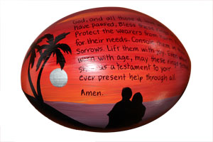 Wedding prayer on a coconut