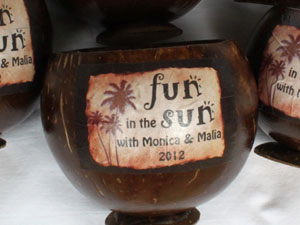 Coconut cup with Label Service