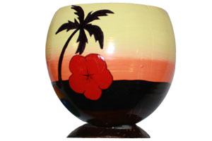 genuine coconut cups perfect for luau party decorations