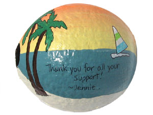 Personalized hand painted thank you gift