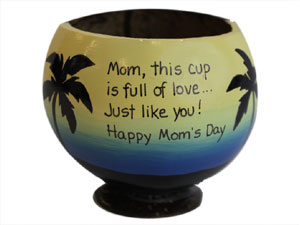 Happy Mothers Day gift coconut cup