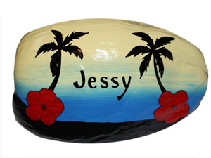 Hand Painted Coconuts are made in the USA