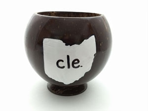 Customize this coconut cup with your state and saying