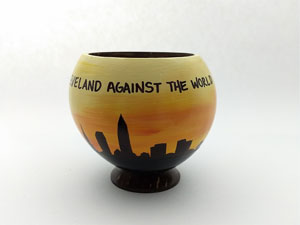 beach themed painted hollow coconut  souvenir