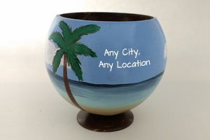 Coconut Cups personalized with your message or location