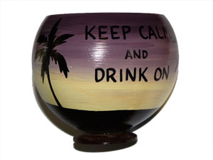 Painted coconut cups make unique gift ideas