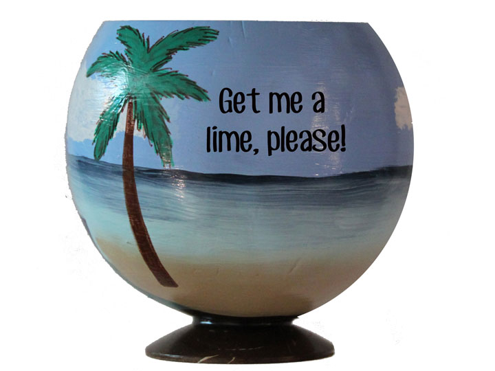 Unique One Of A Kind Gift Idea: A Painted Coconut