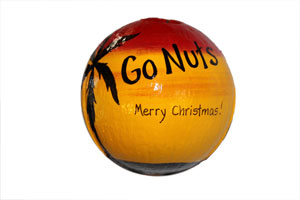 Handpainted Christmas ornament on sale