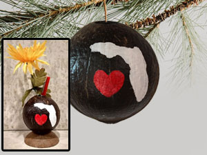 Florida painted ornament