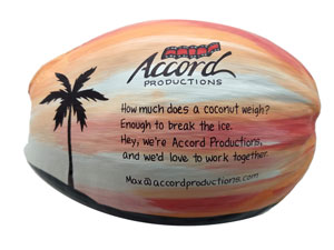 Branded and Personzalized Coconut as Marketing piece