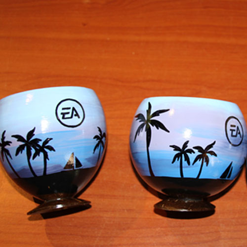 Send a coconut cup hand painted for your event