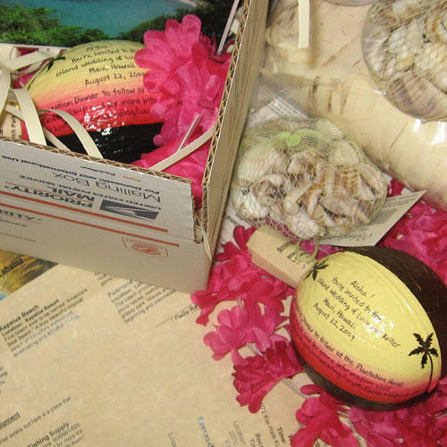 Get a painted coconut with your message, design and logo
