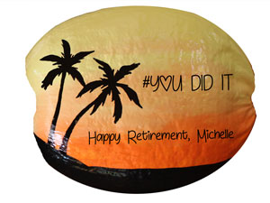 Add your message for a memorable retirement gift