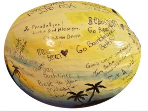 Sign the coconut for a memorable keepsake gift
