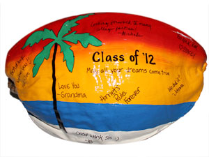 signed and painted coconut. Bring your coconut and a marker - have everyone sign it for the recipient. Perfect for coaches, teachers, birthdays and retirement!