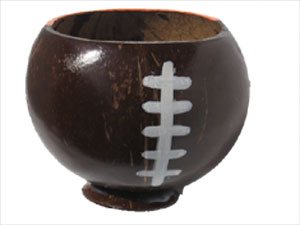 The football coconut drinking cup!
