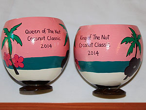 Coconuts make one of a kind trophies.