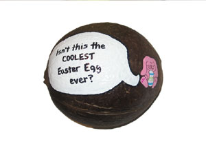 Easter Gift Hand Painted Coconut