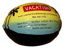 Perfect for sales incentive programs or travel agent - the Vacation Button!