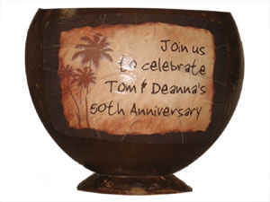 Decal Service on Coconut Cup - Product Image