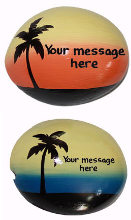 Painted Coconut Half Shells 15% off - Product Image